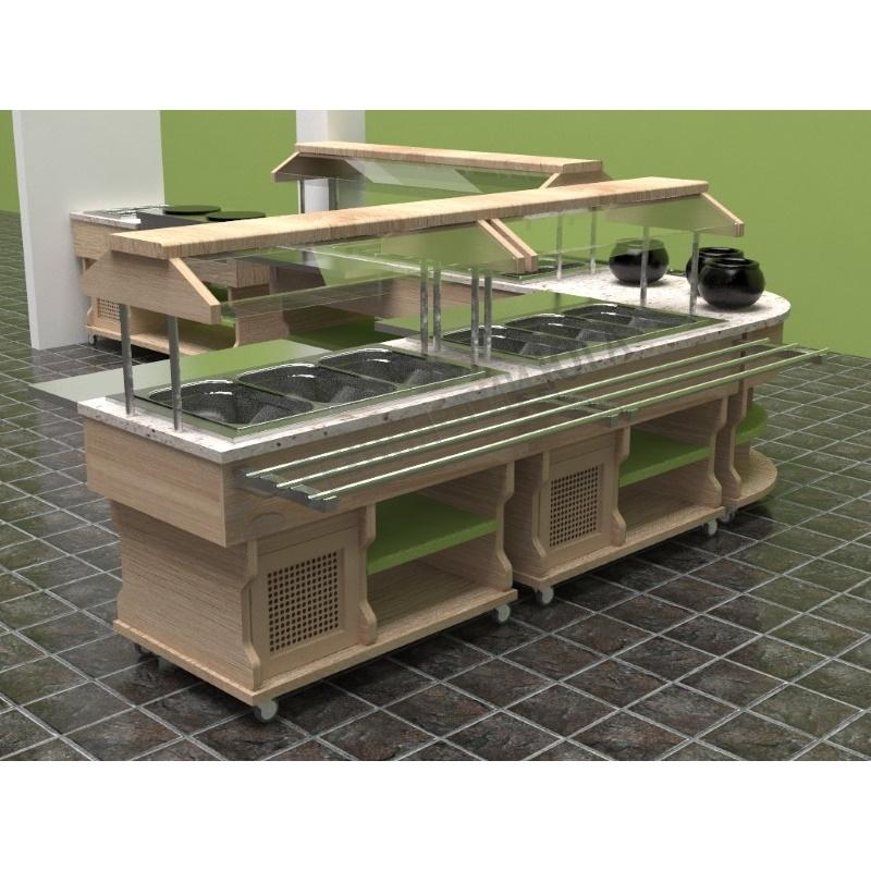 Салат-бар Gastrolux охлаждаемый ПО-127/3GN/W - купить в интернет-магазине industry-shop.ru