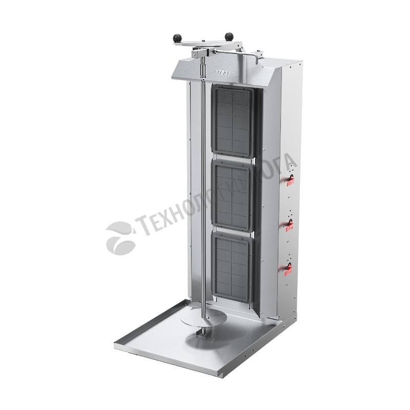 Гриль для шаурмы газовый ATESY Шаурма-3 М - купить в интернет-магазине industry-shop.ru