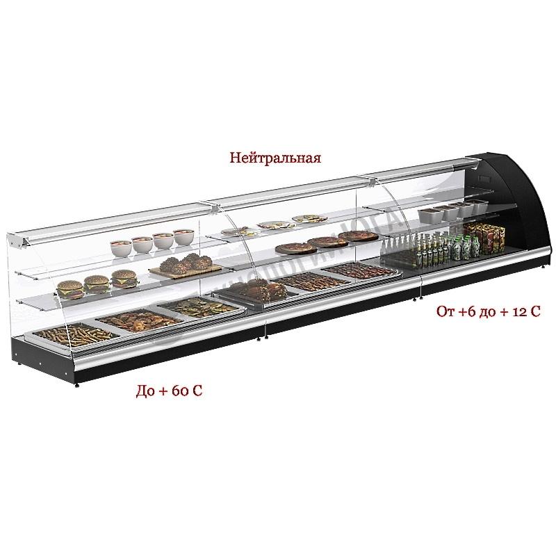 Витрина тепловая Carboma A37 SH 1,0-1 (ВТ-1,0) (5 GN 1/3) - купить в интернет-магазине industry-shop.ru