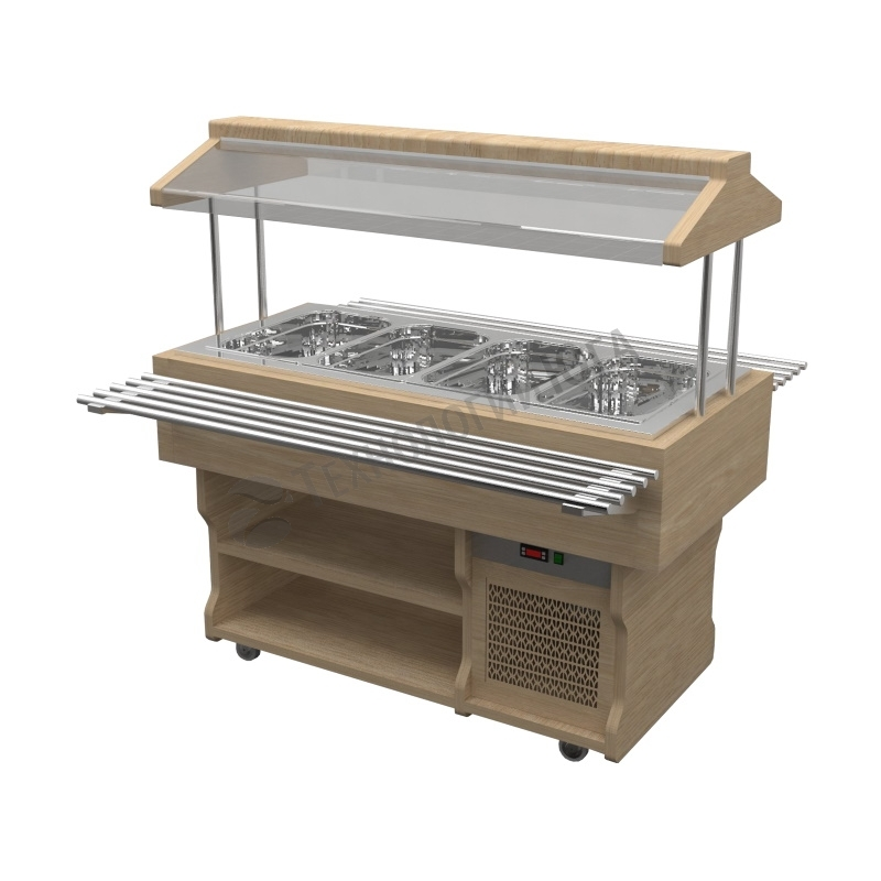 Салат-бар Gastrolux охлаждаемый ПО-187/5GN/W - купить в интернет-магазине industry-shop.ru